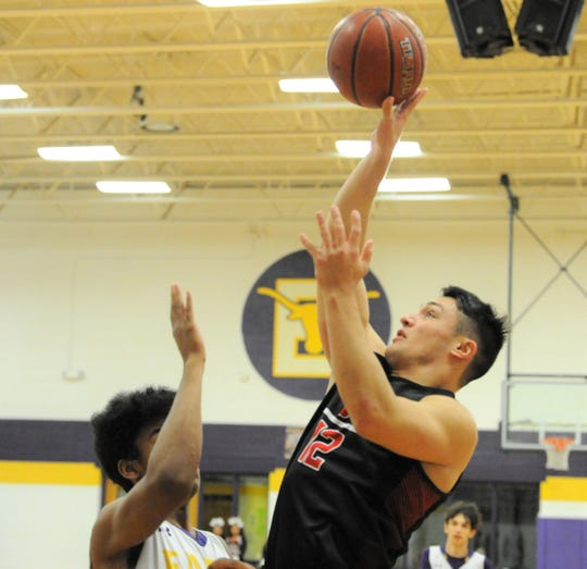 Eastland senior Anthony Bonilla goes for a shot against Early on Friday, Feb. 14, 2020, at Early High School.