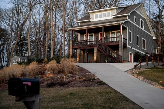 The home of a Leicester couple who were shot and killed in Ohio after an apparent dispute over money with her ex-husband.