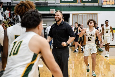 Reynolds defeated Roberson 57-52 in the Western Mountain Athletic Conference championship February 14, 2020.