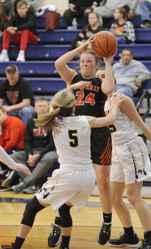 Waverly senior Zoiee Smith, shown in this file photo, scored her 1,000th career point in the Tigers' 53-37 win over Piketon in the Pike County Classic Tournament.