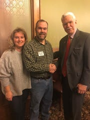 The Capitol was abuzz this week, as committee members rushed to get bills out of committee before funnel week ends. To add to the activity we were honored to have the Honey Producers here for Iowa Bee Day. Here are Eric and Keri Kenoyer (Van Meter) pictured with Rep. Gustafson.