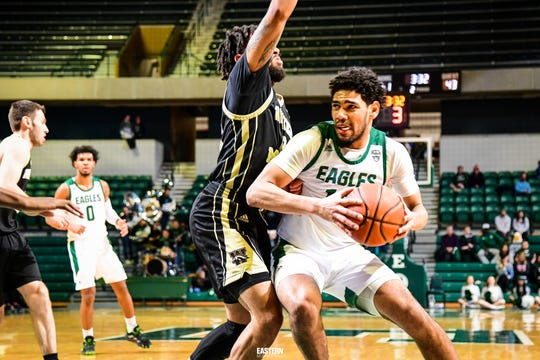 Eastern Michigan's Darion Spottsville had 10 points against Western Saturday in the Eagles' victory.