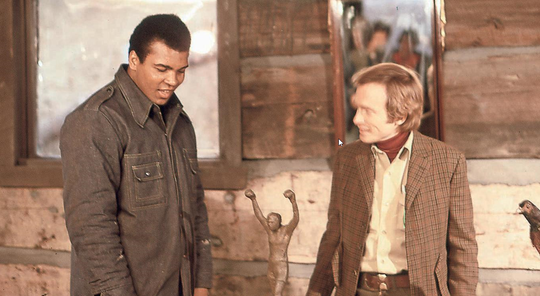 Dick Cavett's show on ABC became a regular forum for Muhammad Ali.
