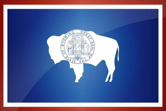 The state flag of Wyoming.