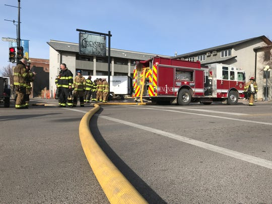 A fire was reported Saturday at the Greystone Inn in downtown Great Falls.