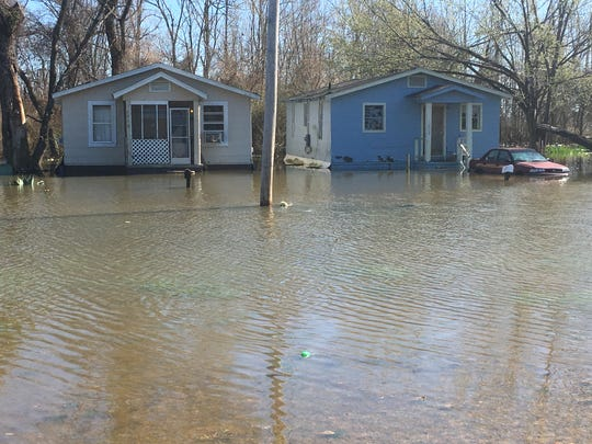 Residents of several homes on Nichols Avenue south of downtown Jackson were forced to evacuate their homes on Saturday, Feb. 15., 2020, as floodwaters from the Pearl River continue to rise.