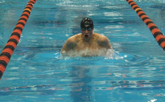 Ashland's Rylan McDaniel was runner-up in the 100 breaststroke.