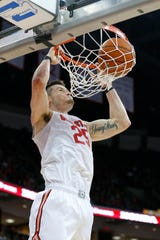Ohio State Buckeyes forward Kyle Young (25) dunks during the second half against the Purdue Boilermakers at Value City Arena.