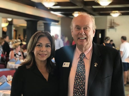 Past MIAAOR president and veteran Bill Filbin gave a beautiful invocation and led the group in the pledge of allegiance. Above Ileana Bogaert, MIAAOR president.