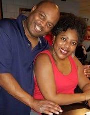 Firefighter Darrin Jones poses with his wife Pauline Grant-Jones. Jones died on Feb. 1.