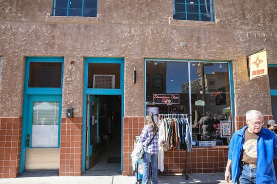 Downtown Blues Coffee is shown on Main Street in Downtown Las Cruces on Saturday, Feb. 15, 2020.