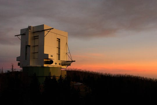 The Large Binocular Telescope, the world's largest telescope at Arizona's Mount Graham International Observatory.