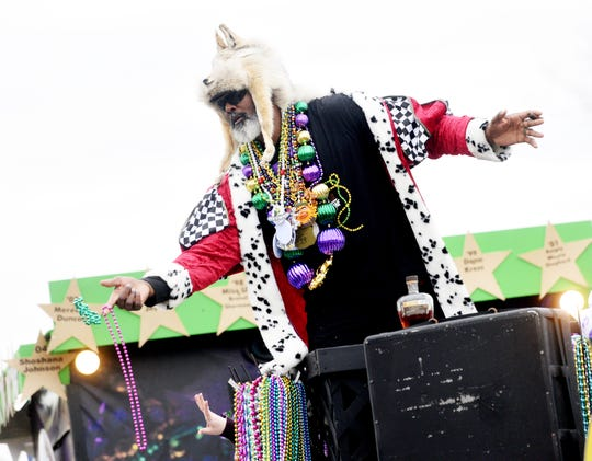 Karl Malone was the Grand Marshal during the 29th Annual Krewe of Centaur Parade: Centaur Time Travels! Saturday afternoon on  Clyde Fant Parkway in downtown Shreveport.