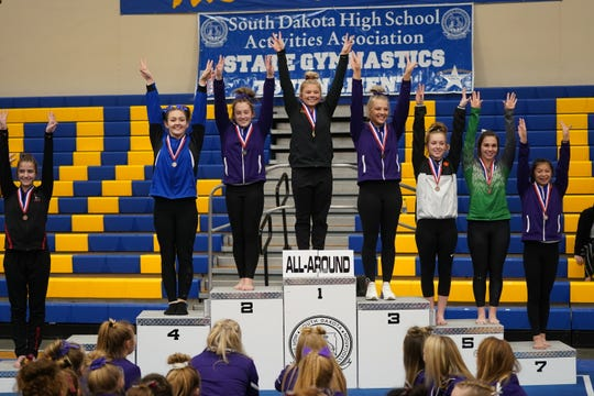 2020 Class AA All-Around medalists