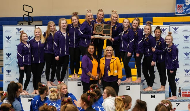 2020 Class AA gymnastics team champion Watertown