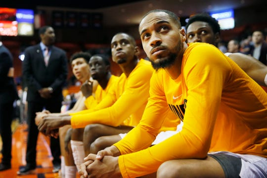 UTEP's Daryl Edwards before the game against Marshall Saturday, Feb. 15, at the Don Haskins center in El Paso.
