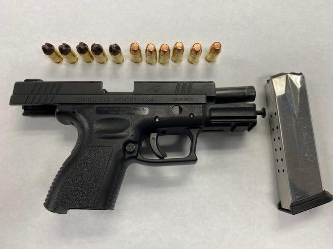 A firearm and ammunition seized by Oxnard police.
