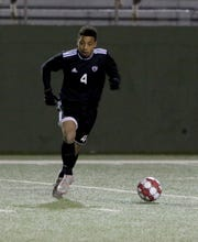 Wichita Falls High's Bricen Vialpando passes in the match against Aledo Friday, Feb. 14, 2020, at Memorial Stadium.