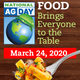 "The theme for National Ag Day is, ""food brings everyone to the table."""