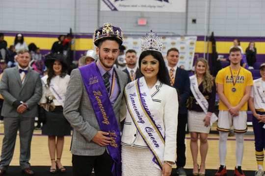 Austin Rogers of Alexandria and Monica Aguilera of Forest Hill were both voted as this year's LSUA Homecoming king and queen.