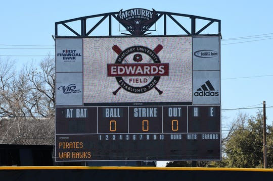 McMurry softball's new home Edwards Field was dedicated on Sunday, Feb. 16, 2020. The War Hawks opened the field with a doubleheader against Southwestern following the ceremony.