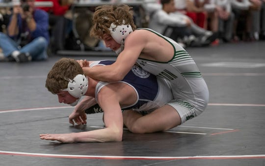 120: Joseph Davi, D, d. Jake Slotnick, 5-0. Delbarton defeats St Augustine 54-7 in Non-Public A final at NJSIAA team championships in Toms River on February 16, 2020.