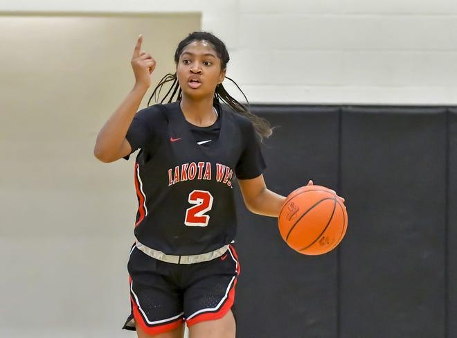 Chance Gray of Lakota West calls a play against Western Hills during the Lakota East sectional at Lakota East High School, Saturday, Feb. 15, 2020