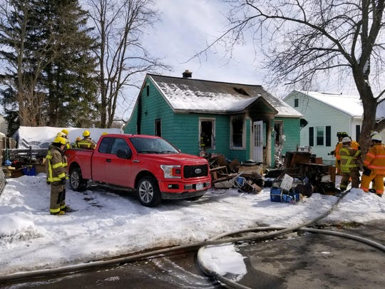 Bath firefighters responded to a blaze at 4 Halsey St., in Bath, on Saturday, Feb. 15, 2020.