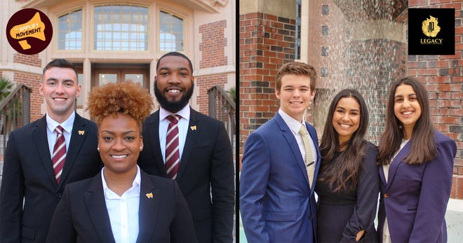 Amplify (left) and Legacy (right) candidates have only one week to campaign on campus.