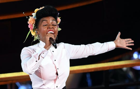 """Janelle Monae dressed as Mister Rogers and sang """"Won't You Be My Neighbor."""""""