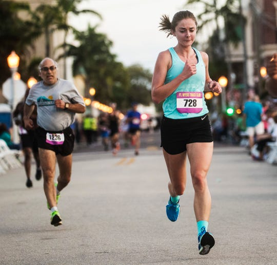 Abbey Warth was the women's winner of the Edison Festival of Light  5K  on Saturday Feb 15, 2020.