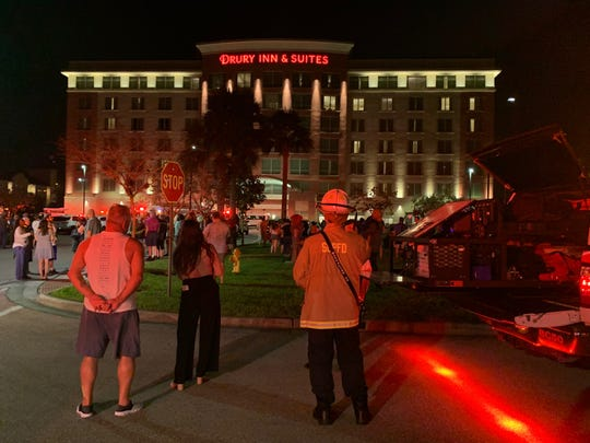 Firefighters from San Carlos Fire District were called to the Drury Inn & Suites, 9950 University Plaza Drive, shortly before 10 p.m. Saturday for an active fire alarm. No smoke or fire was found.