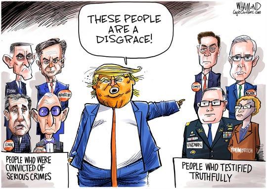 Felons vs. those who testified.