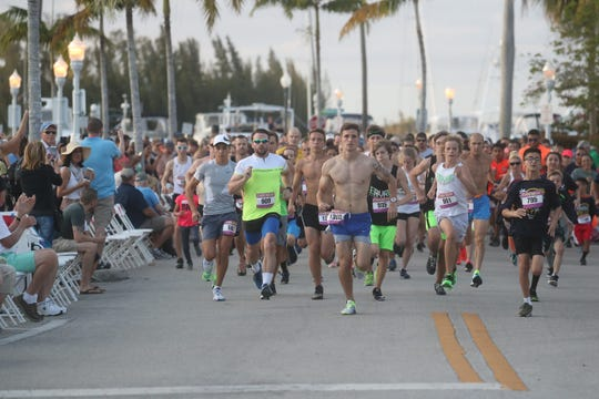 Runners particiapte in the the Edison Festival of Light 5K  on Saturday Feb 15, 2020.