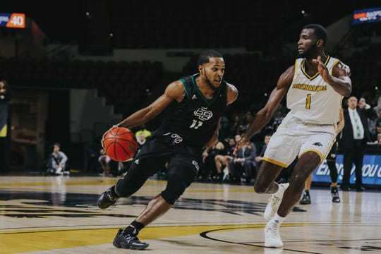UWGB senior guard JayQuan McCloud has scored 20 or more points four times in the last seven games. He had 26 against the Panthers on Saturday.