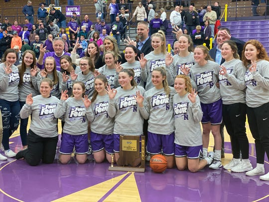 The Northwestern Tigers won their third straight regional title with a 72-35 win over Homestead on Saturday.