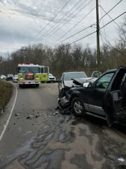 A head-on car crash at 4306 Strawberry Plains Pike sent six people to the hospital on Sunday morning.