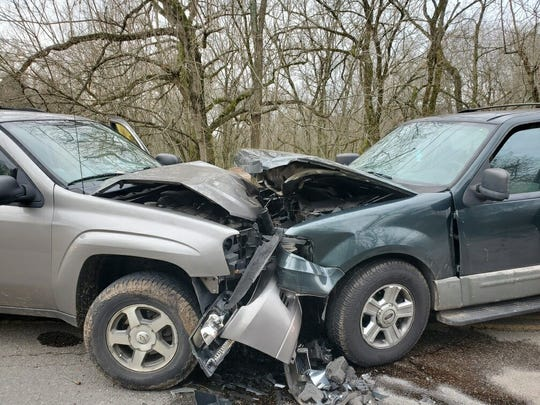A head-on crash at 4306 Strawberry Plains Pike sent six people to the hospital on Sunday morning.