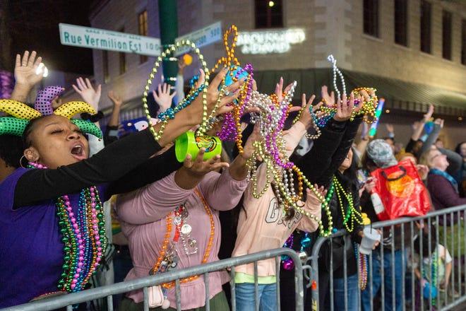 The RIO Mardi Gras Parade rolls through Lafayette.  Saturday, Feb. 15, 2020.