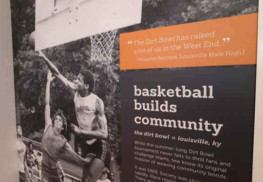 An exhibit at the Kentucky High School Basketball Hall of Fame in Elizabethtown, Ky. on Feb. 14, 2020.