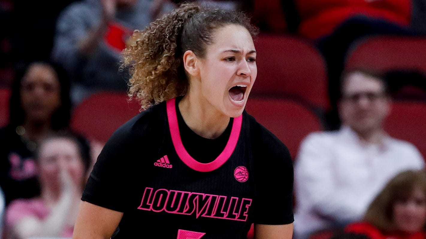 Louisville women rout Notre Dame to take sole possession of first place in ACC