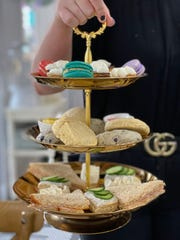 Assorted tea sandwiches, scones and sweets are served at afternoon tea at 17 Berkshire on Feb. 7, 2020.