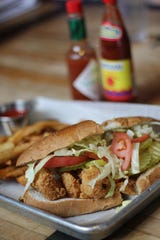 Fried shrimp po-boys are available at The Second Line.