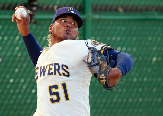 Freddy Peralta, primarily a fastball pitcher who sometimes uses a curve, is bringing back his slider.
