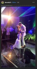 J.J. Watt dances with new bride Kealia Ohai at their wedding Feb. 15, 2020.