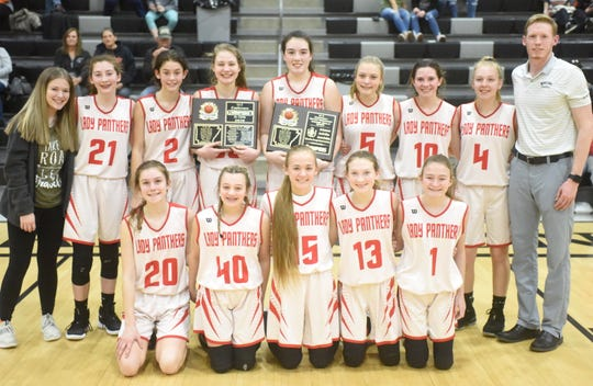 The Norfork Junior Lady Panthers won the 1A-2 Junior District championship on Saturday at Brockwell.