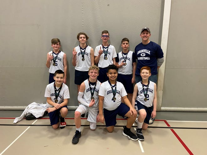 Granville won the seventh- and eighth-grade division at the Licking County Family YMCA.
