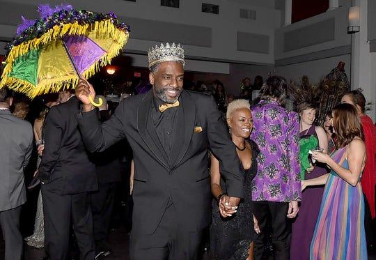 KIng Imperial II doing the Mardi Gras dance
