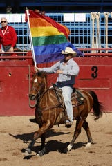 Opening ceremonies during the 35th annual Arizona Gay Rodeo on Feb. 16, 2020 at Corona Ranch and Rodeo Grounds in Phoenix.