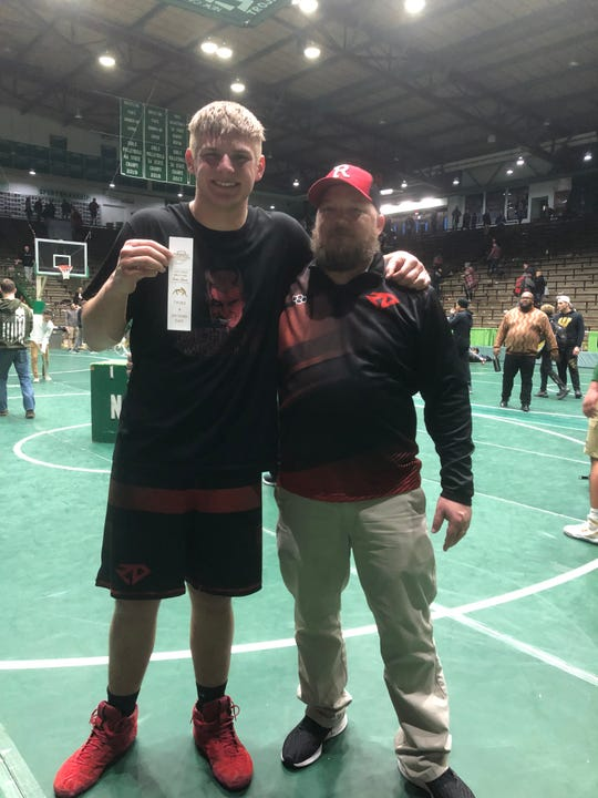 Blaine Pierce and Dan Capps' bond has grown since the senior was in fifth grade. They'll take on Bankers Life Fieldhouse on Friday as Pierce is the school's first wrestler to qualify for state since 2017.